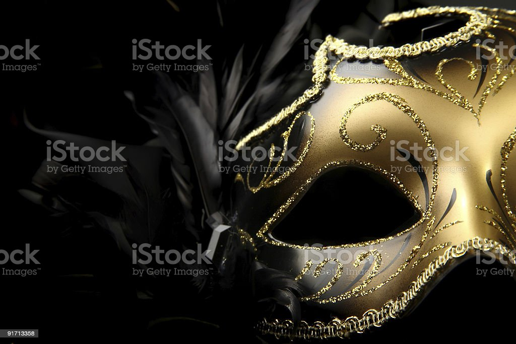ornate carnival mask stock photo