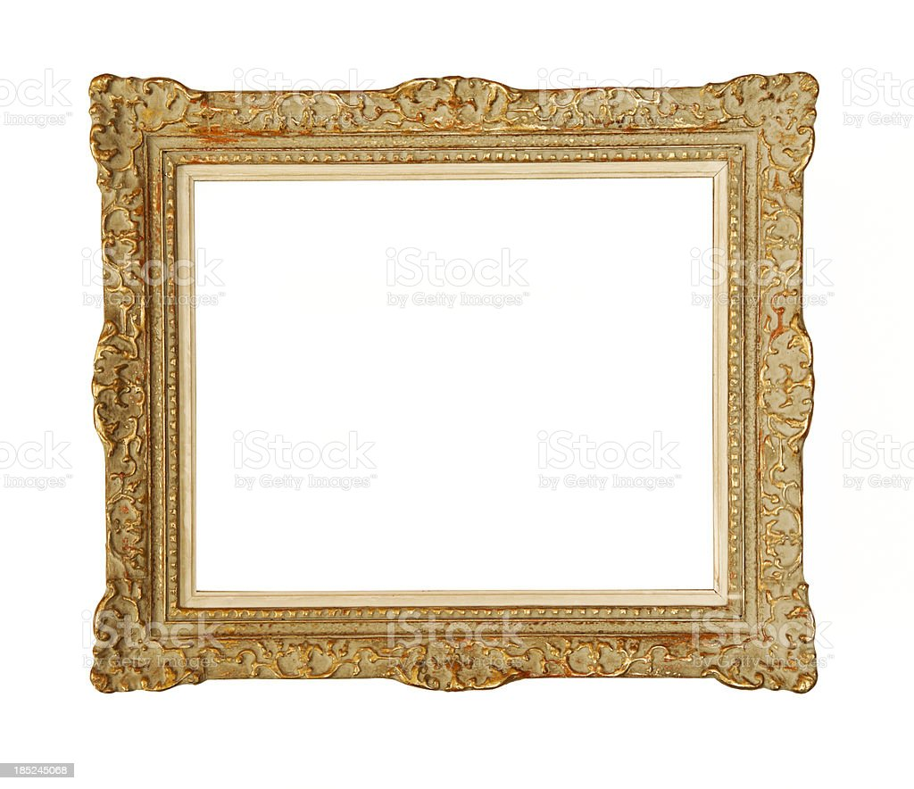 Ornate carved gilded picture frame. royalty-free stock photo