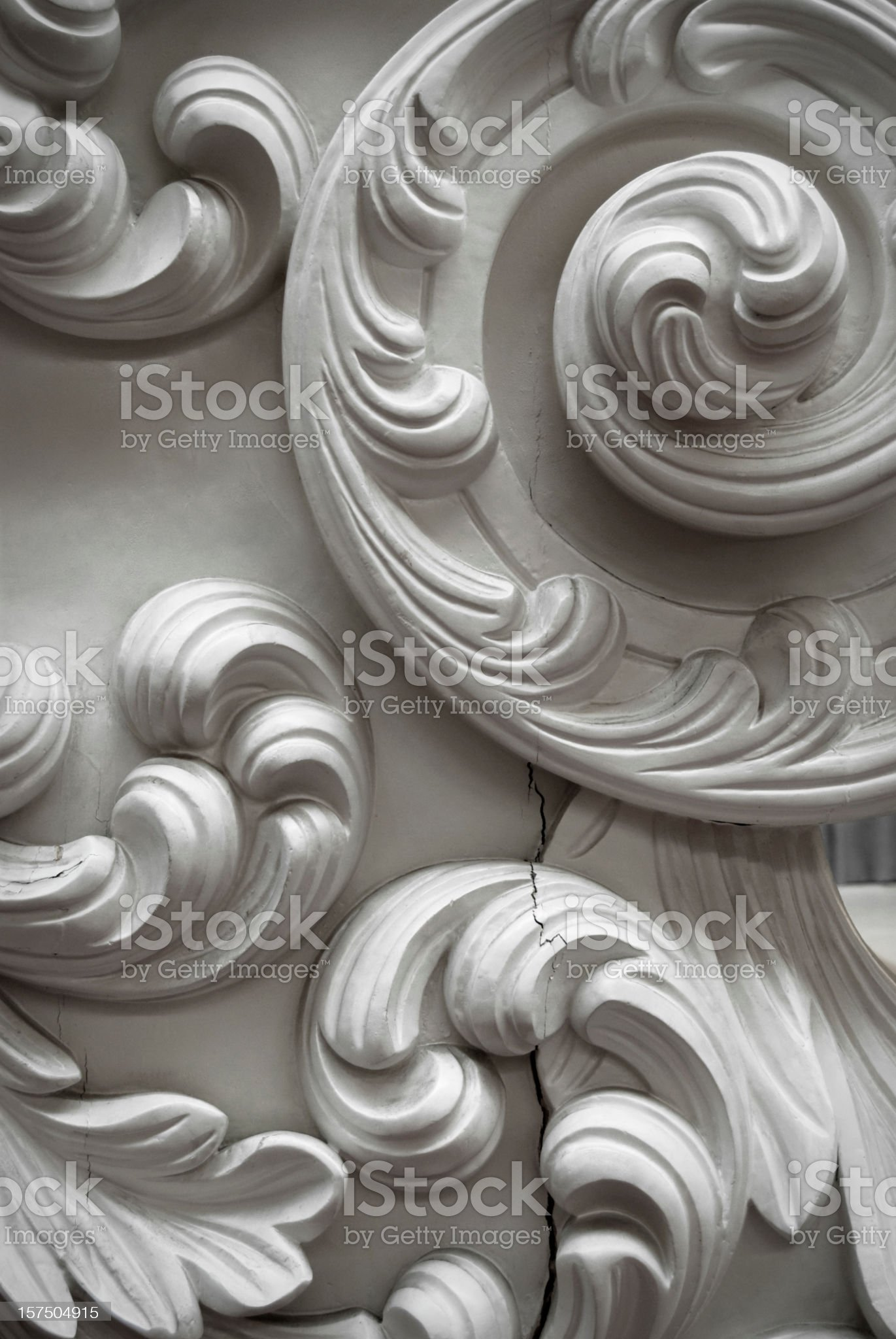 Ornate Carved Wood royalty-free stock photo