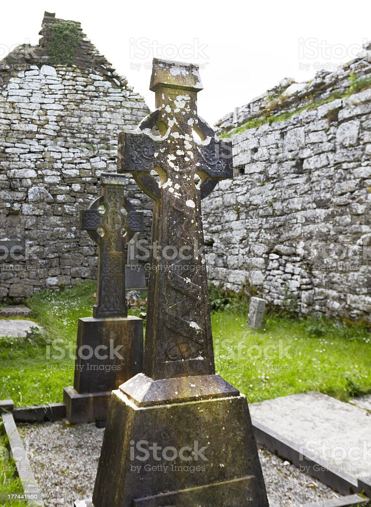 Ornate Celtic Cross royalty-free stock photo