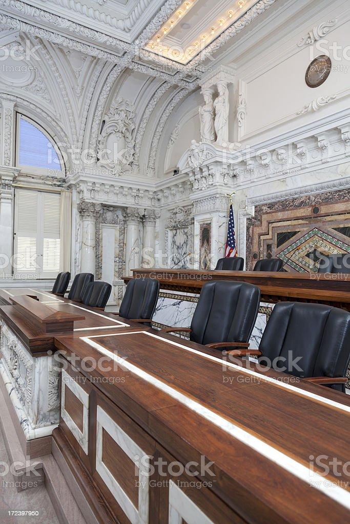 Ornate Chamber Room stock photo