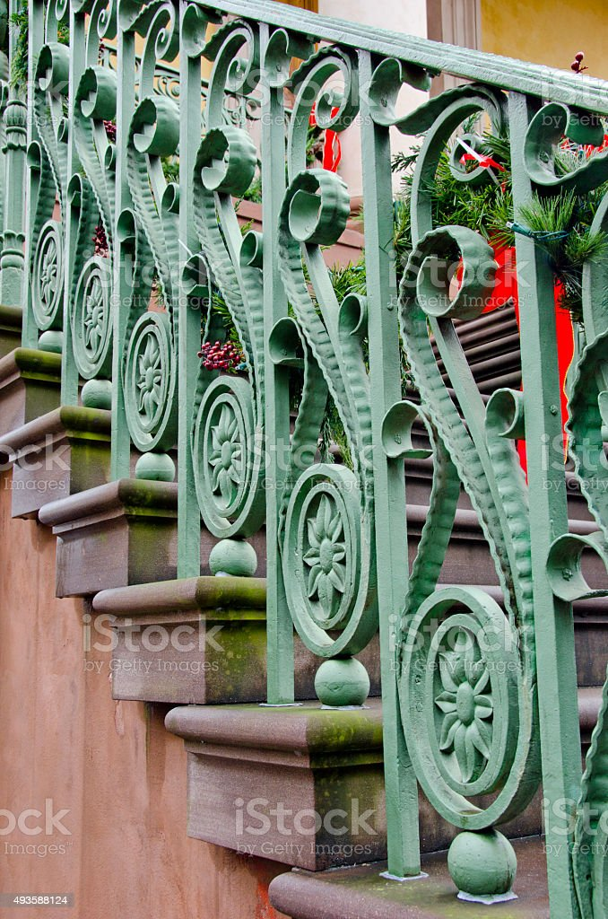 Ornate Charleston Staircase stock photo