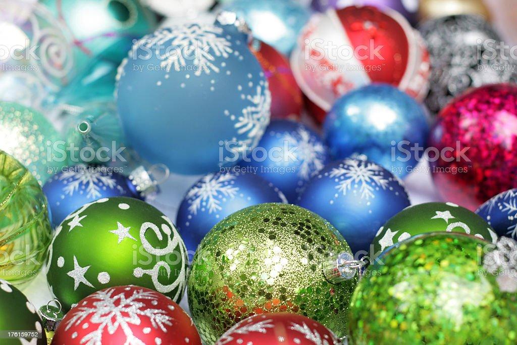 Ornate Christmas decorations royalty-free stock photo