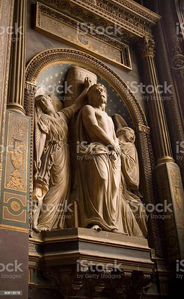 Ornate church details stock photo