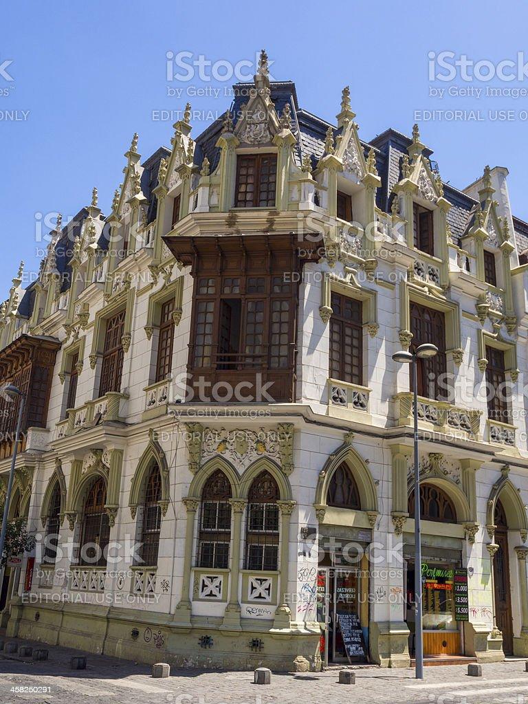 Ornate colonial era building, Santiago, Chile stock photo