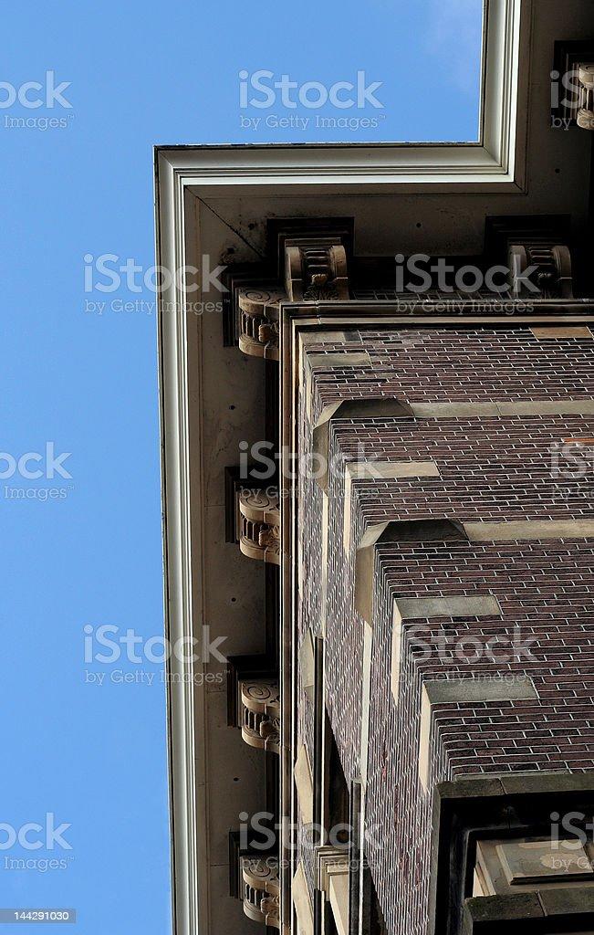 Ornate Cornice Ledge From Below stock photo