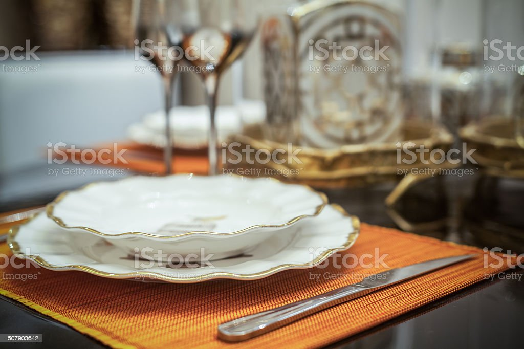 Ornate Dinner Setting stock photo