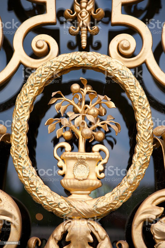 Ornate door detail royalty-free stock photo