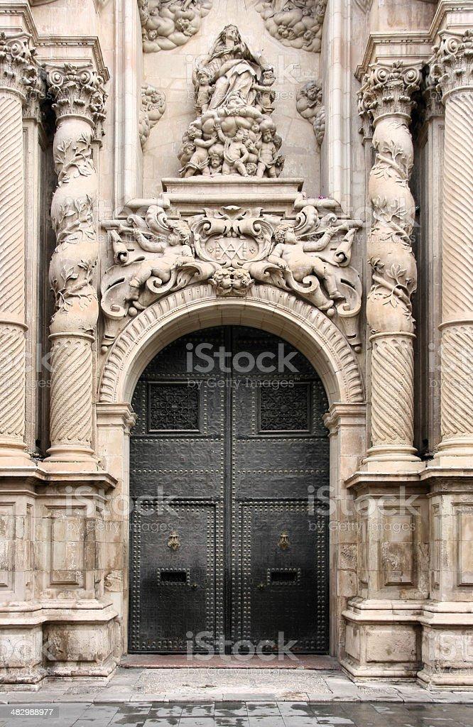 Ornate door stock photo