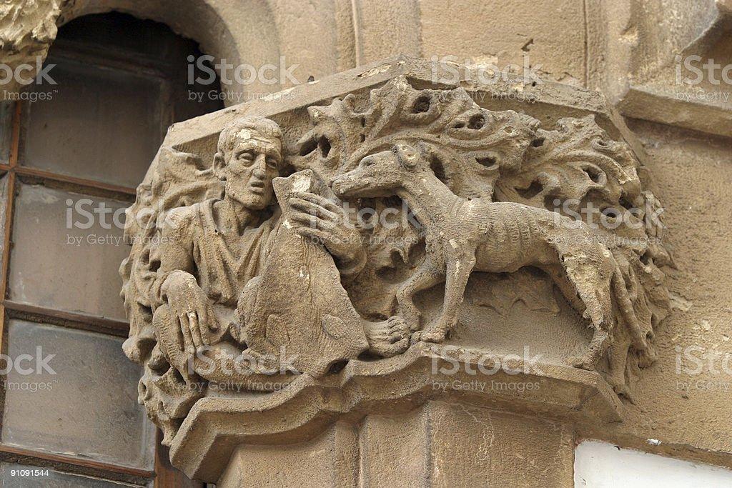 Ornate Doorway Detail in Spain stock photo
