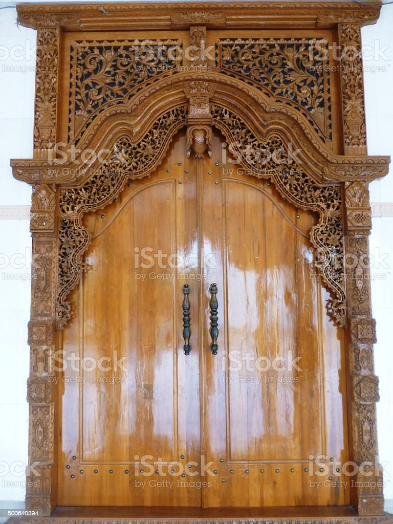 Ornate Entrance Door stock photo