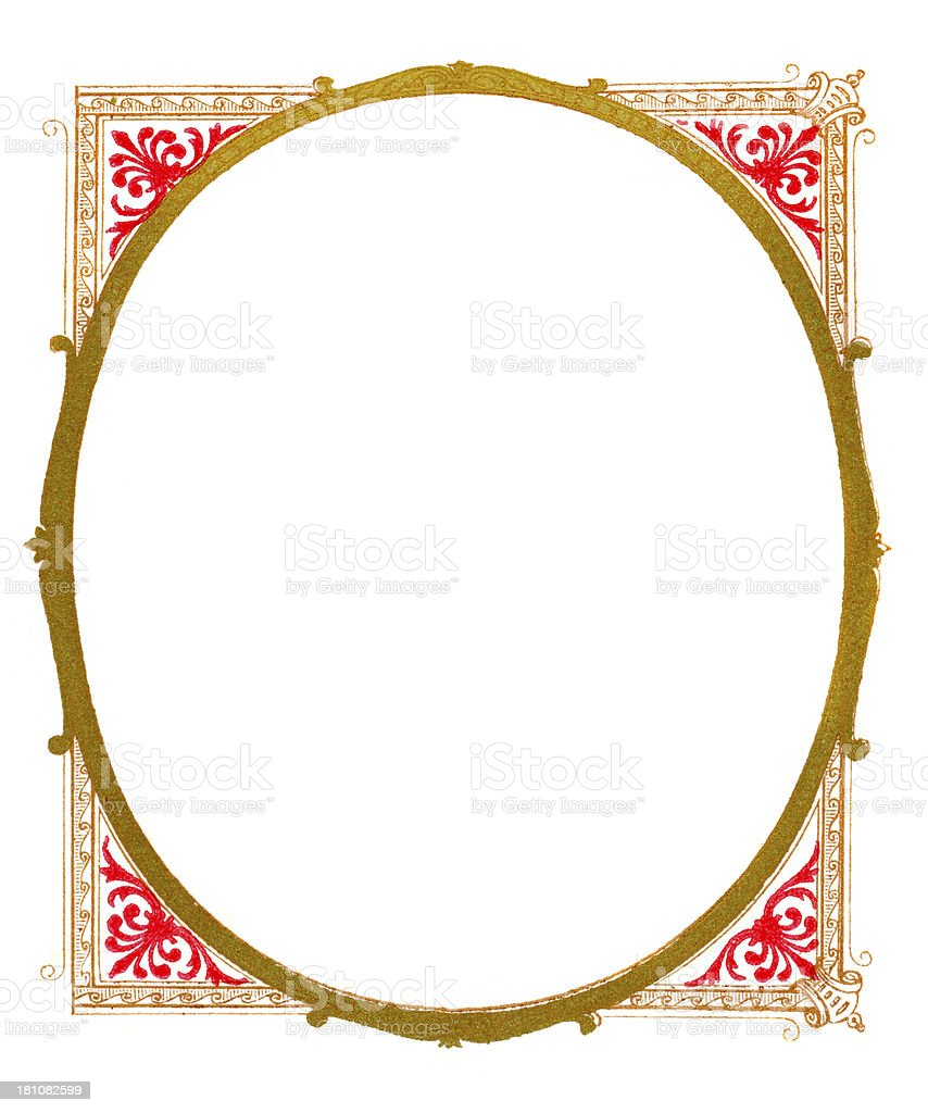 Ornate frame design royalty-free stock photo