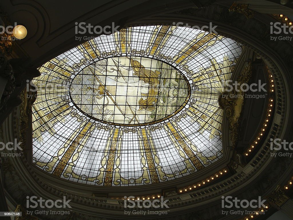 Ornate Glass Ceiling stock photo