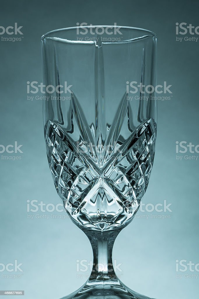 Ornate Glass on Blue royalty-free stock photo