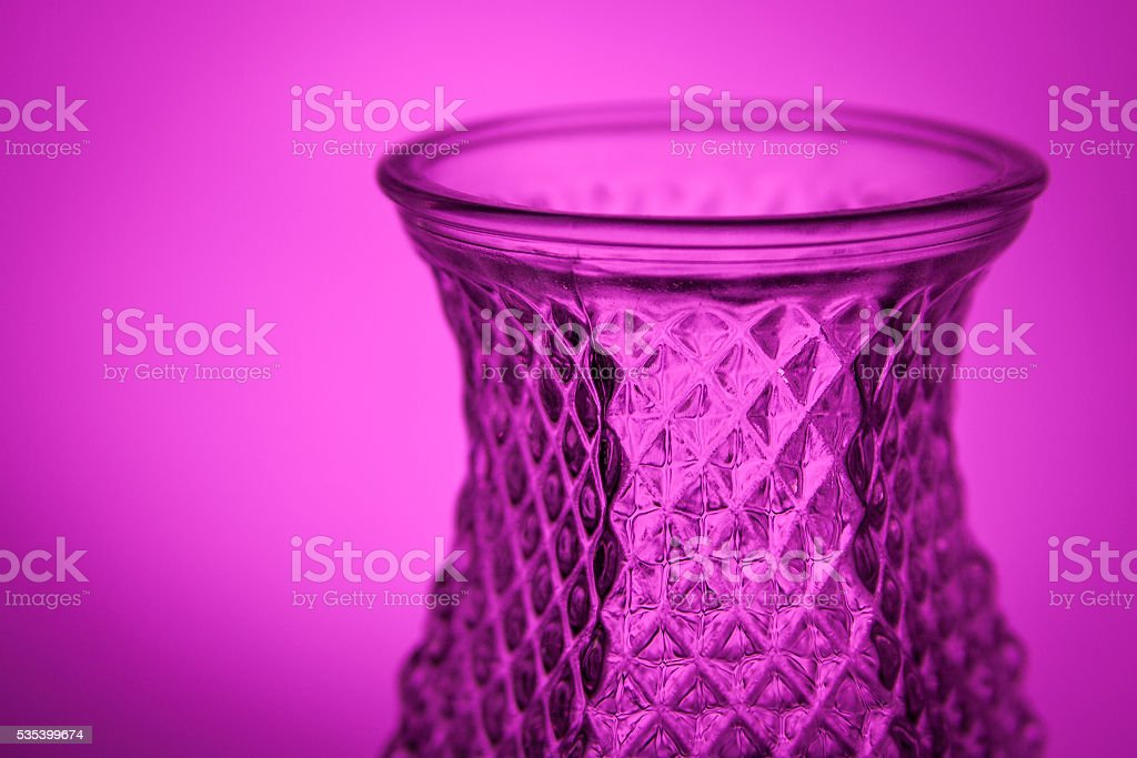 Ornate Glass Vase on Purple stock photo