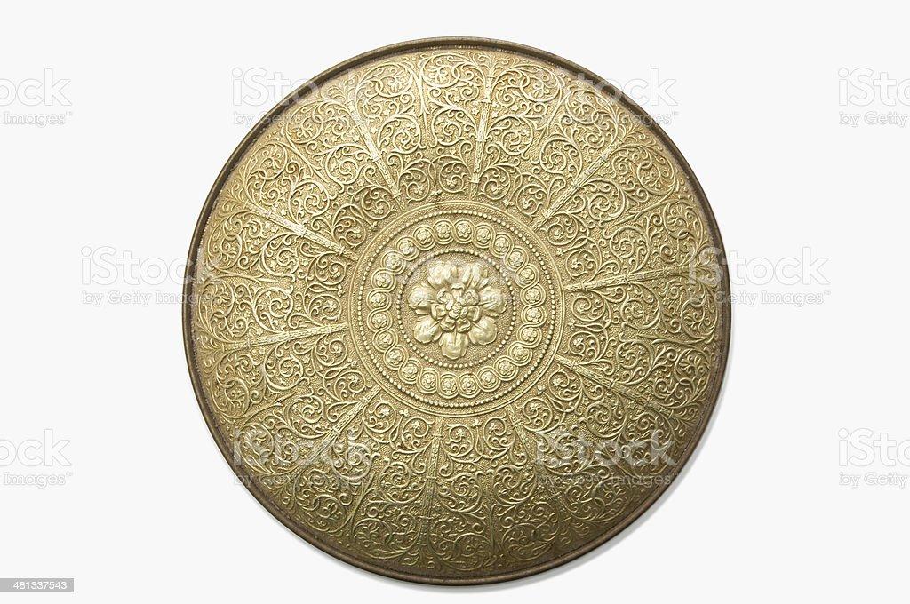 Ornate Gold Shield royalty-free stock photo