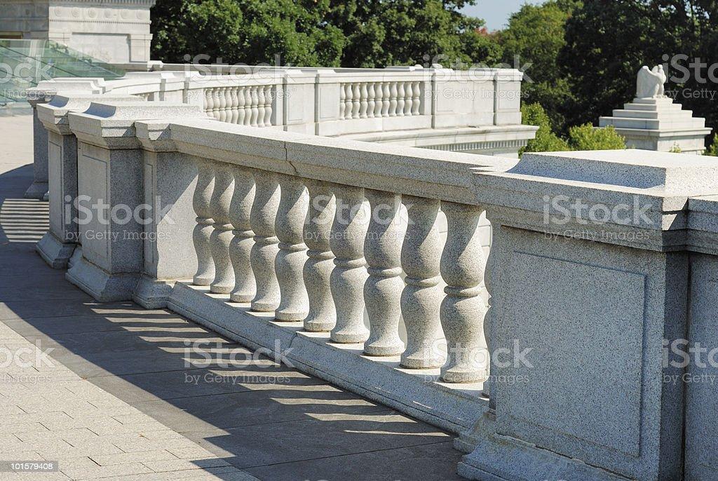Ornate granite balcony royalty-free stock photo