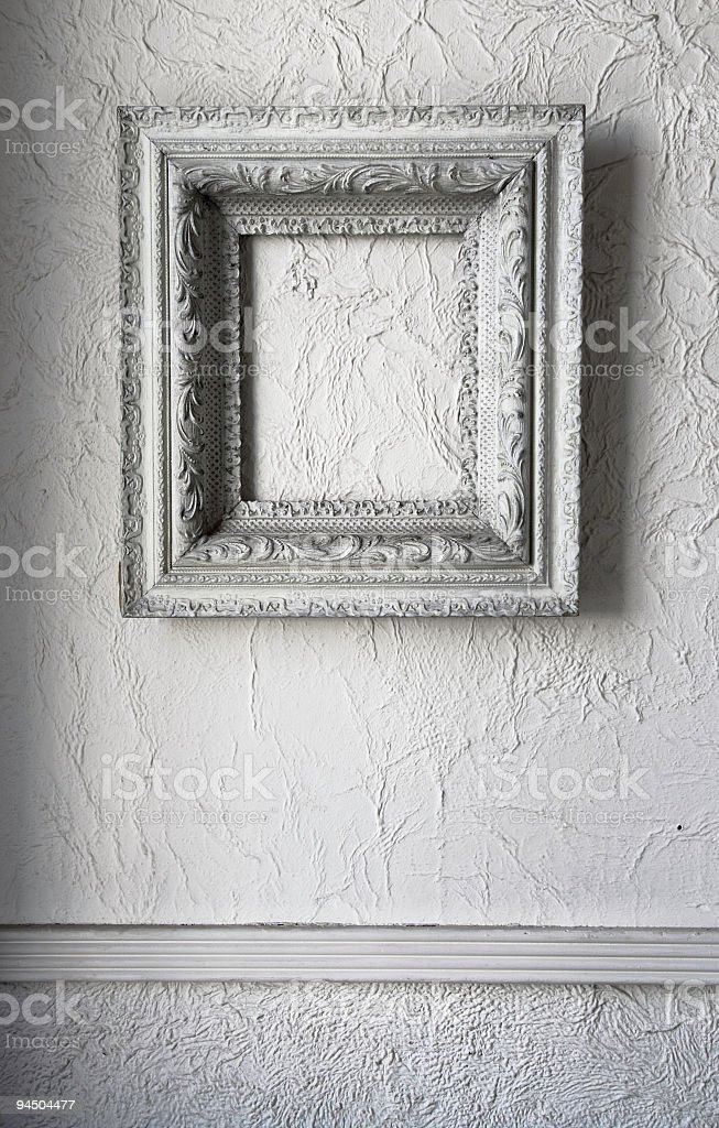 Ornate Grungy Picture Frame stock photo