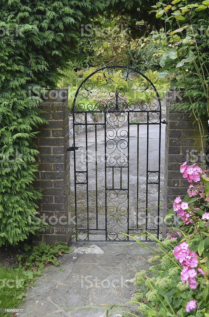Ornate iron gate royalty-free stock photo
