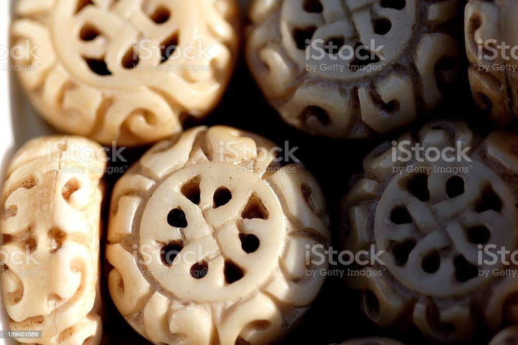 ornate ivory trinkets royalty-free stock photo