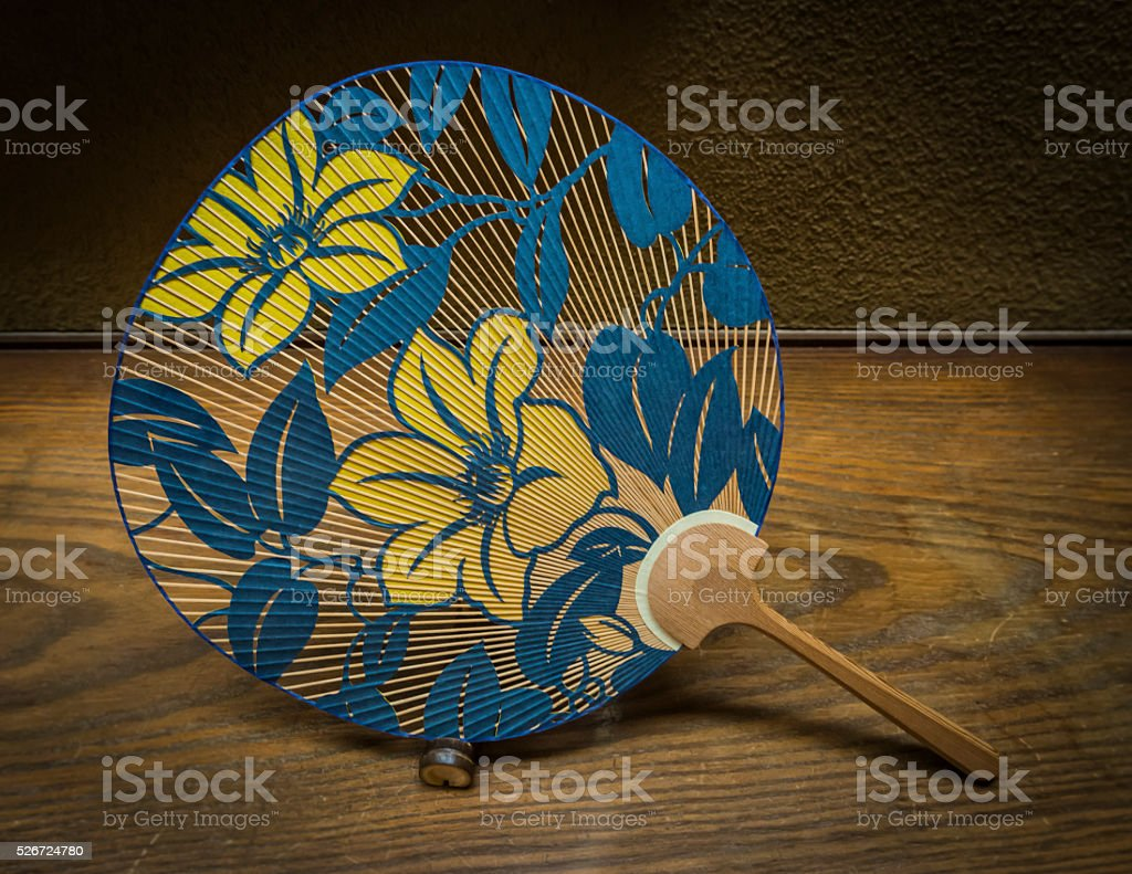 Ornate Japanese stlye fan stock photo