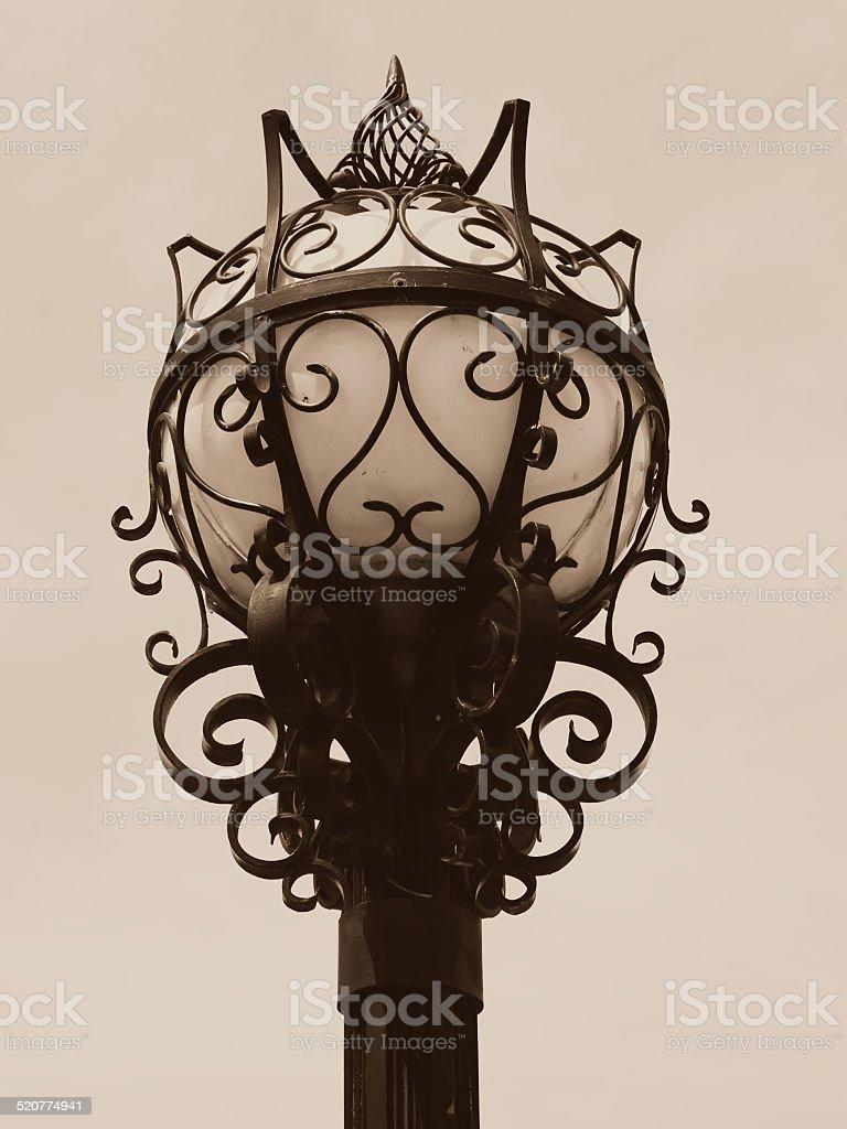 Ornate Lamp Post, Country Club Plaza, Kansas City, Missouri stock photo