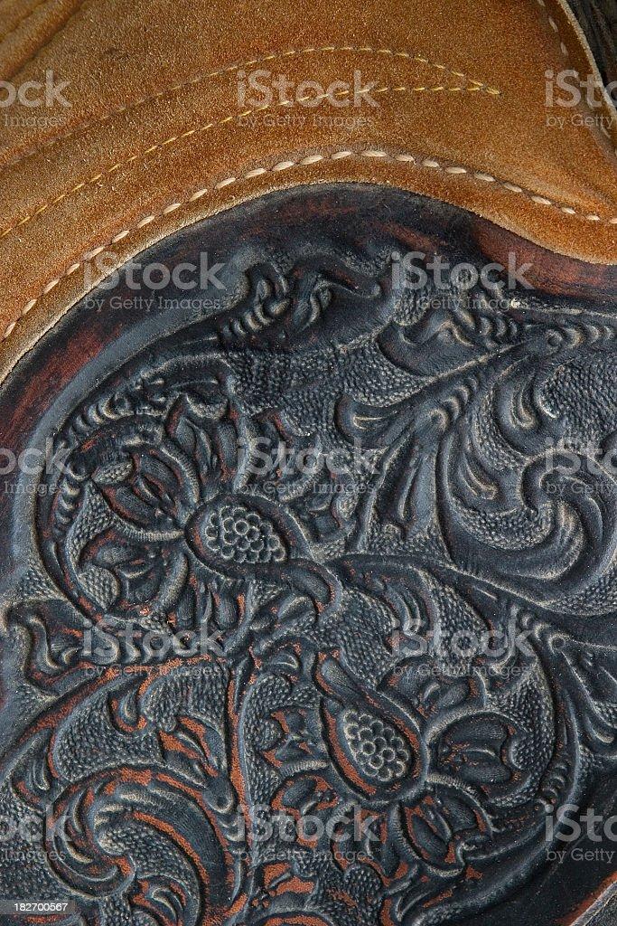 Ornate Leatherwork Detail royalty-free stock photo