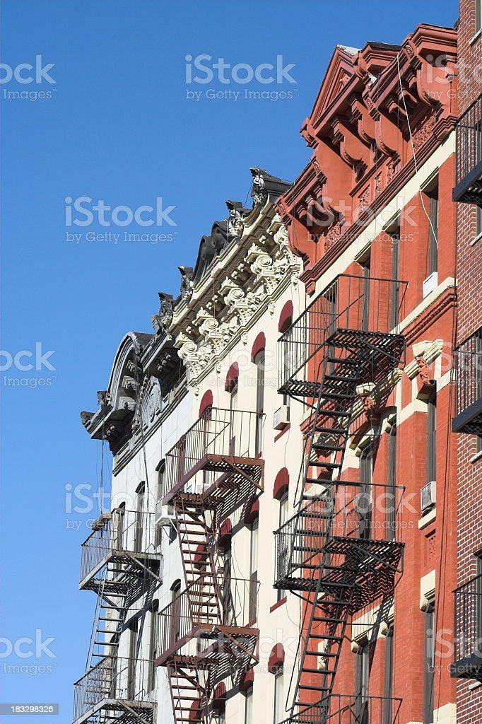 Ornate LES Tenement Buildings royalty-free stock photo