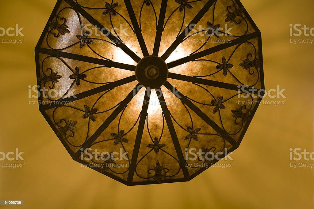 Ornate light fixture royalty-free stock photo