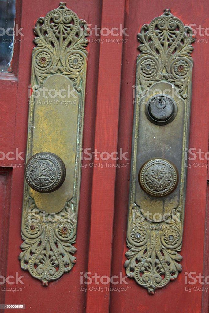 Ornate lockset royalty-free stock photo