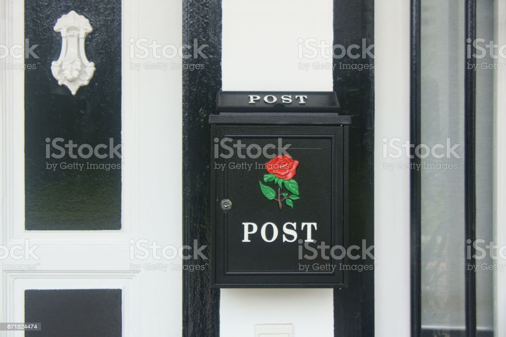 Ornate mailbox - Detail stock photo