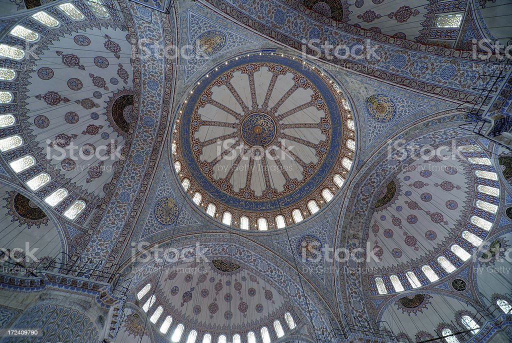 Ornate Mosque Ceiling stock photo