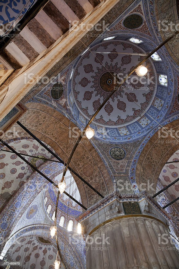 Ornate Mosque Ceiling royalty-free stock photo