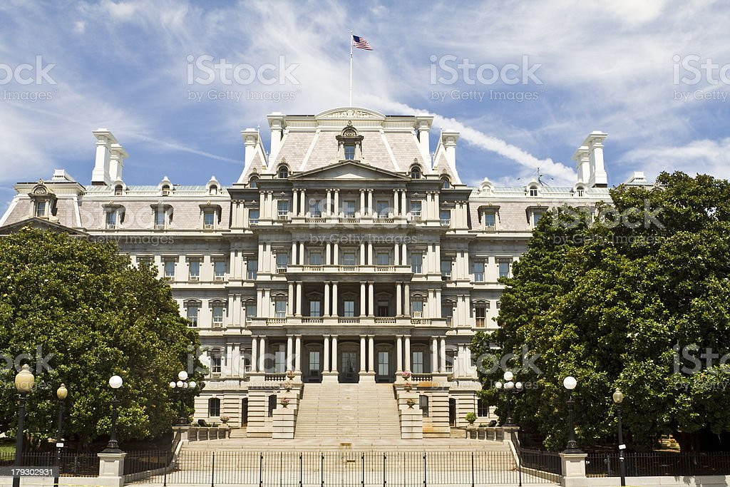 Ornate Old Executive Office Building Washington DC, USA, Beaux-Arts Style stock photo