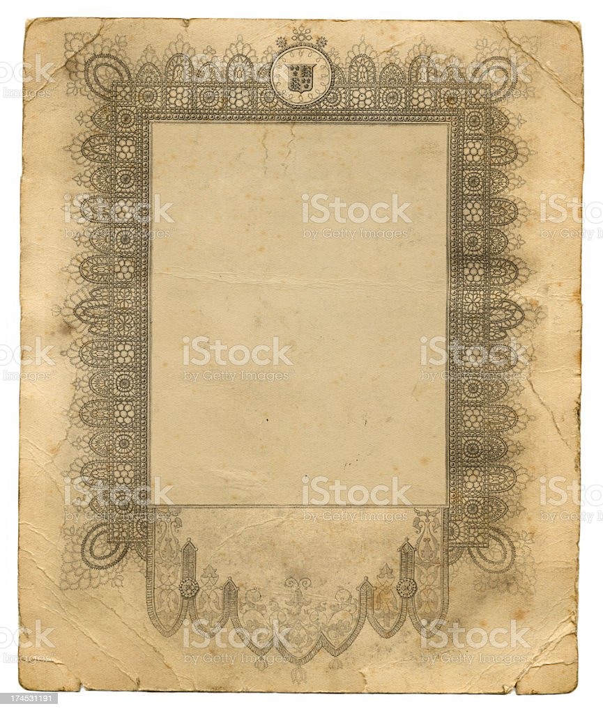 Ornate old frame royalty-free stock photo