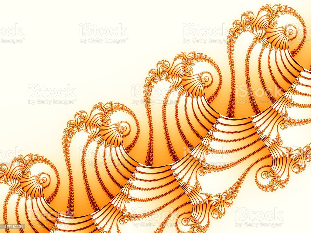 Ornate paper shells royalty-free stock photo