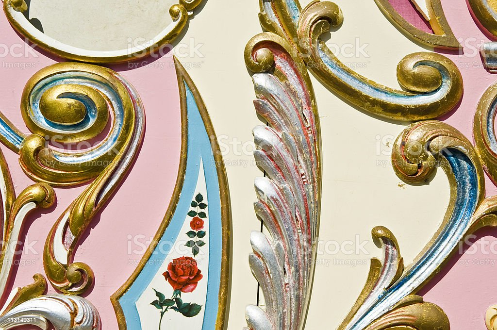Ornate Pastel Background stock photo