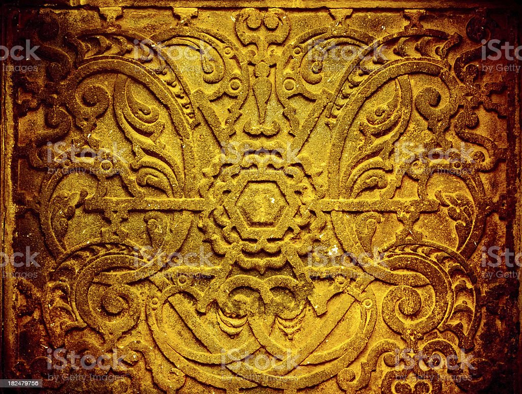 Ornate Rustic Emblem, Cusco Peru royalty-free stock photo