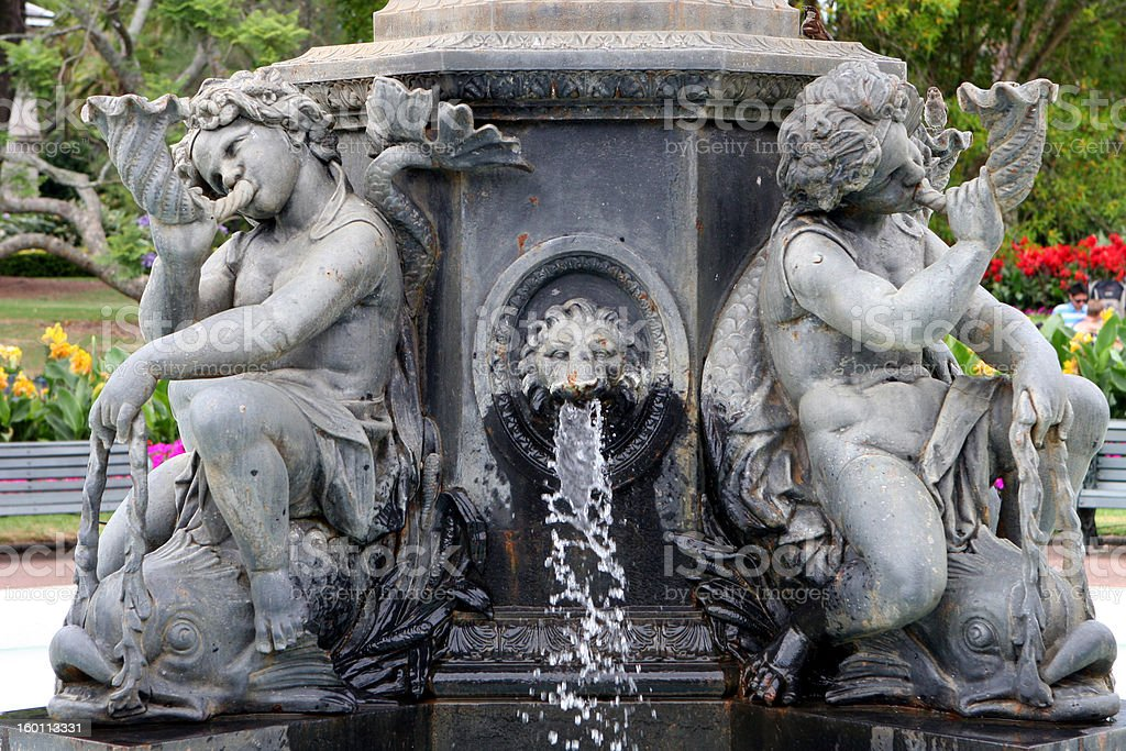 Ornate Statue with fountain royalty-free stock photo