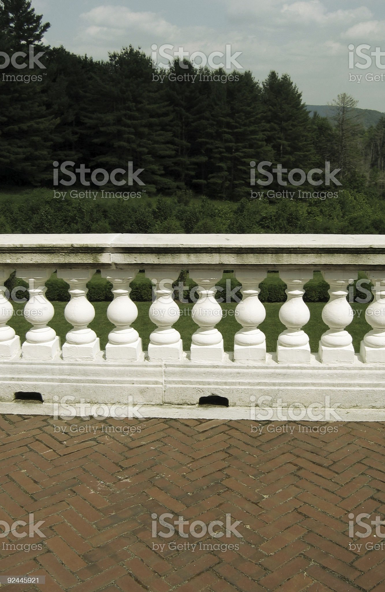 Ornate Stone Railing royalty-free stock photo