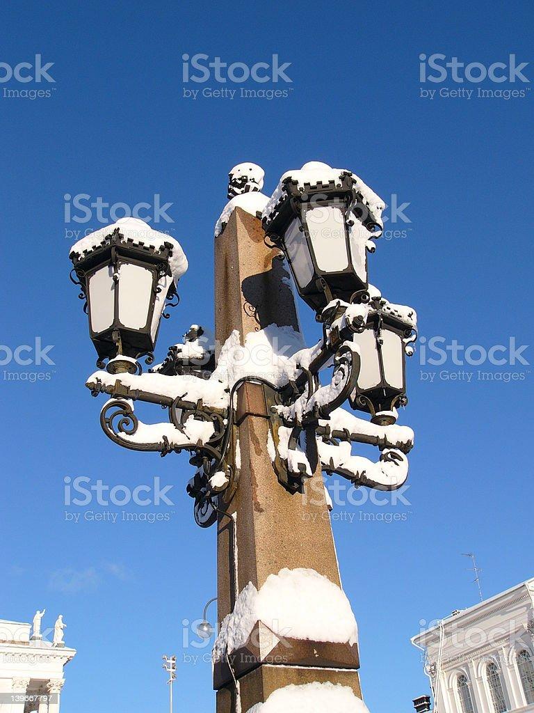 Ornate street lamp royalty-free stock photo