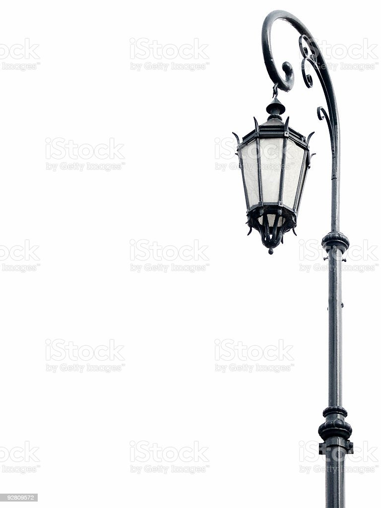 Ornate street lamp. stock photo