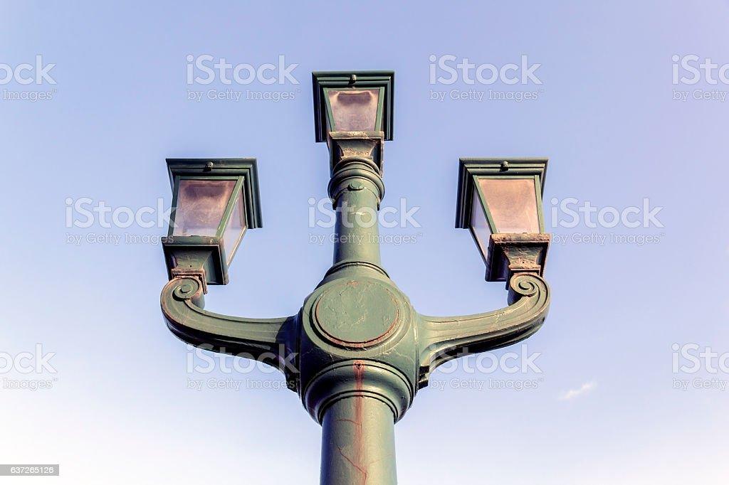 Ornate Street Light, Newcastle upon Tyne stock photo