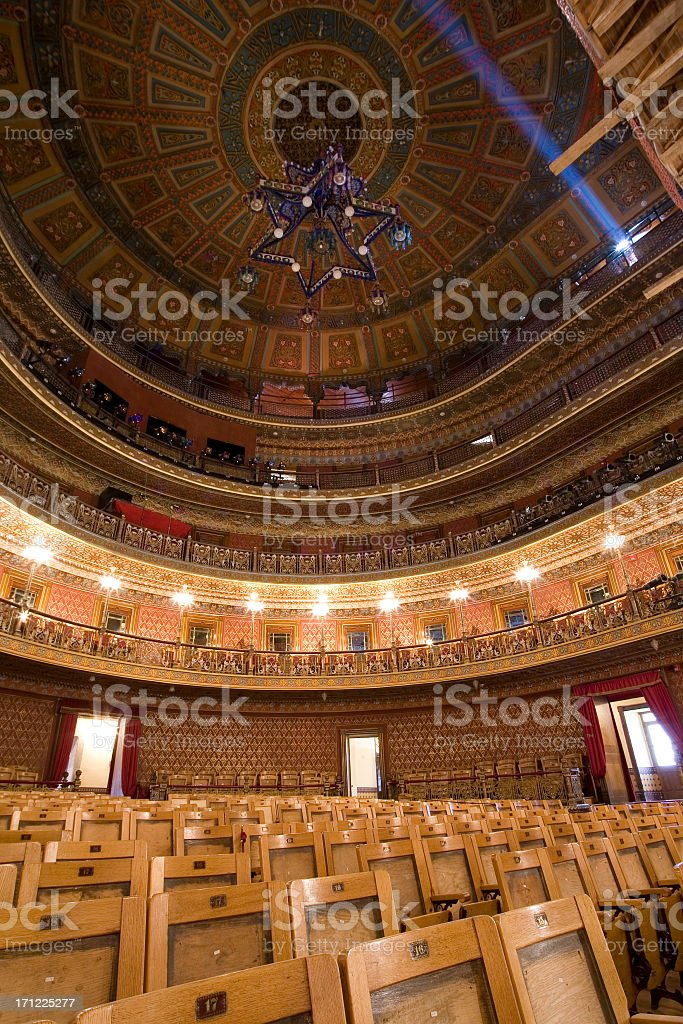 Ornate Theatre Interior-from below royalty-free stock photo