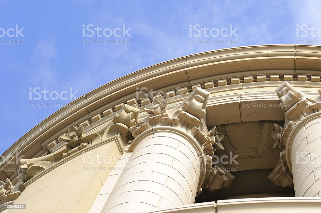 Ornate tower detail stock photo