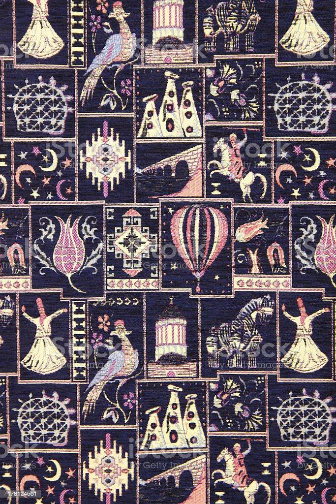 ornate turkish carpet stock photo