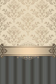 Ornate vintage background with decorative ornament.