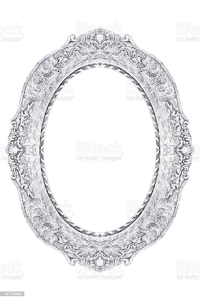 Ornate vintage white frame stock photo