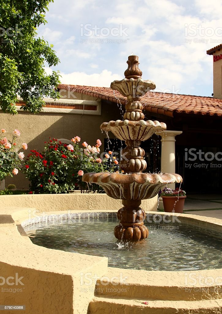 Ornate Water Fountains stock photo