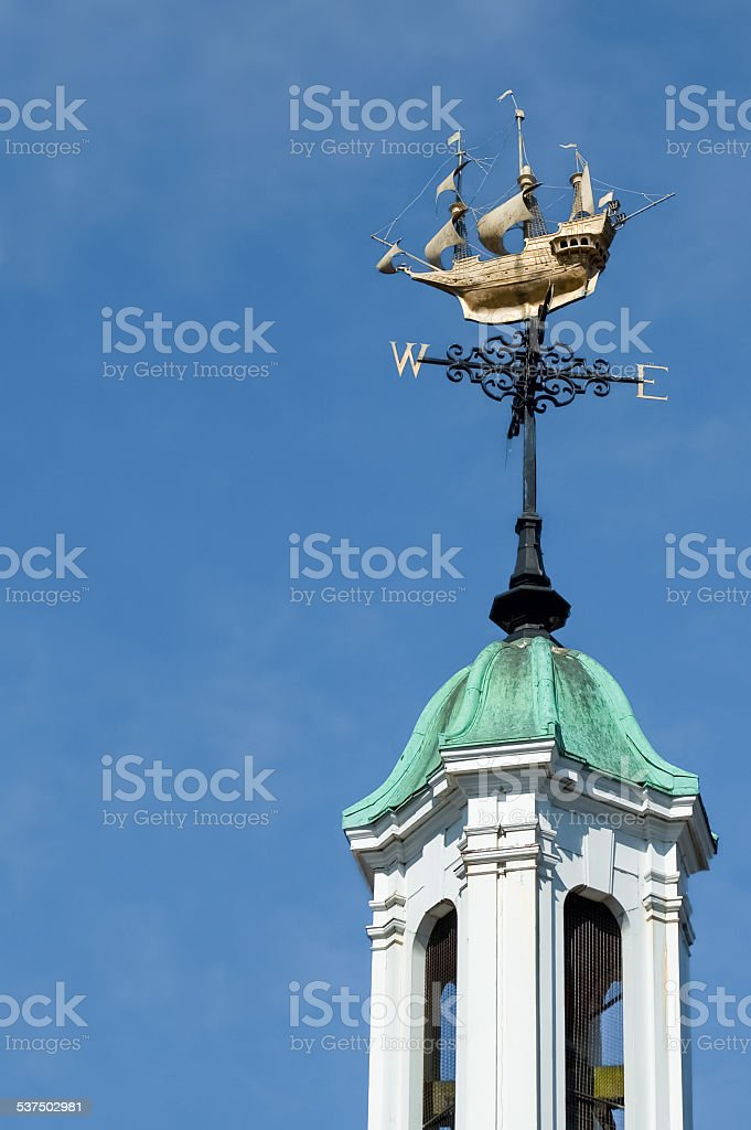 ornate weather vane stock photo